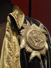 French military uniform - embroidery detail including medal with eagle (Monceau) Tags: leaves silver st