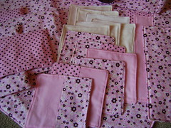 Cloth wipes (coon & cole) Tags: pink flowers brown set handmade cream polkadots fabric cotton etsy custom tote diaperbag michaelmiller mayflowers pul alexanderhenry changingpad wetbag clothwipes dumbdots gaetsyteam coonandcole