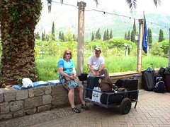 Waiting for our boat from Sunsail with our supplies & luggage (Tracy & Daryl) Tags: croatia dubrovnik flotilla sunsail
