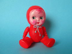 Japanese toy (Helena / Funny Bunny) Tags: baby vintage toy japanese doll funnybunny solidbackground