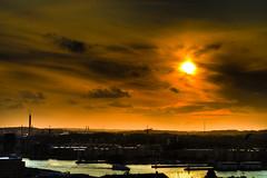 Sunset in gothenburg (Sina Farhat) Tags: sunset night photoshop canon göteborg raw sweden tripod gothenburg sigma august remote 28 30d cs4 adobecameraraw 2470 promenix lonesame