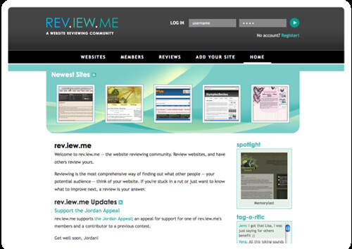 rev.iew.me · community web page reviewing