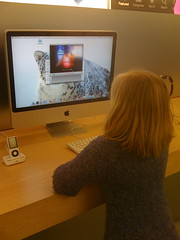 At the apple store