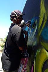 in process (TRUE 2 DEATH) Tags: detail graffiti montana graf nasa ewok production awr spraypaint ladder msk hm tyke theseventhletter tsl ironlak witnes thewitnes