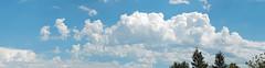 Cloudy sky panorama (Images by John 'K') Tags: blue sky panorama cloud white clouds stitched johnk d5000 johnkrzesinski randomok