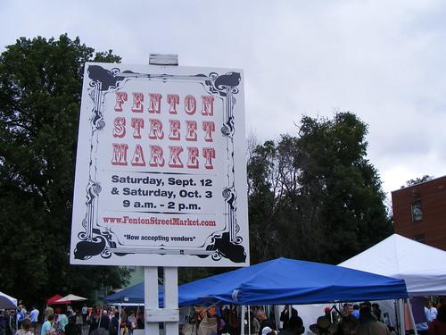 Fenton Street Market Sign