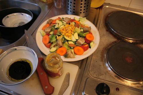 salade au coeur d'artichaut