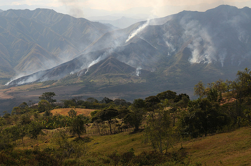 Colombia - Grassland fire