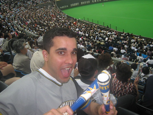 My first time using a set of thunder sticks or spirit sticks or whatever youre supposed to call them.