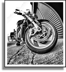 Suzuki Intruder 1800 (CWhatPhotos) Tags: pictures blackandwhite black monochrome bike by canon that lens photography eos japanese rebel photo blackwhite big boulevard foto tour with view photos picture taken fisheye using have adobe adapter moto 1800 suzuki cruiser jap 2007 intruder xsi lightroom tourer japenese opteka m109r monochromed fisheyeview vzr 450d paintshopprophotox2 club16 rebelxsi 020x cwhatphotos