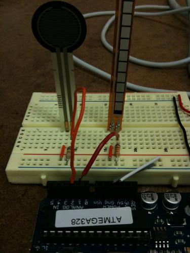 Flex and squeeze sensors