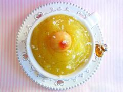 047 Crema de poma amb Macadàmia caramelitzada