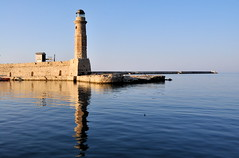 Lighthouse (claudiaindy) Tags: lighthouse reflection faro mediterraneo mare creta grecia riflesso rethymnon