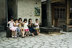 Ice cream ( ken ) Tags: film station kids children pentax kodak taiwan icecream  lx   portra160vc   sanyi