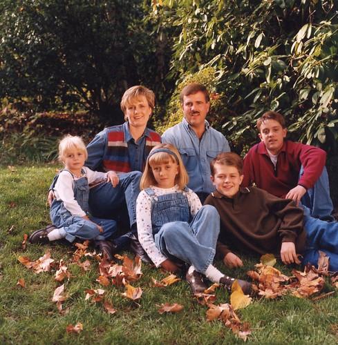Fall leave family photo