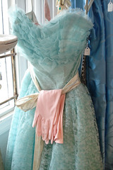 Aqua Blue Ruffled Prom Dress (such pretty things) Tags: california pink shop vintage shopping ruffles aqua dress sandiego lace pastel prom vignettes shabbychic antiquing