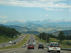 Brilliant view of Rockies on I-70, 15 Aug 2009 (photography.by.ROEVER) Tags: road trip summer vacation mountains highway colorado driving august vista rockymountains interstate 2009 i70 interstate70 exit254 august2009 genessepark westboundi70