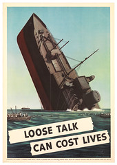 1942--Loose Talk-sinking ship--Steven-Dohanos (x-ray delta one) Tags: coastguard wow army waves propaganda nazis 1940 ww2 pearlharbor spies marines 1942 patriotism blitz 1945 liberation defense 1941 1939 raf 1944 homefront 1943 allies oldglory japs wacs airraid spars armyairforce looselips uboats worldwarll