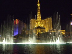 The fountains outside the Bellagio
