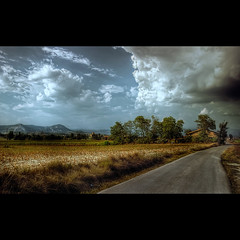 Road to somewhere (christian&alicia) Tags: road house clouds rural landscape nikon carretera sigma catalonia catalunya camps 18200 hdr nuvols paisatges osona catalogne masia d90 christianalicia cloudslightningstorms superstarthebest mall