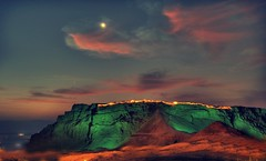 "MASADA  first light   "" DEAD SEA ISRAEL"" (A   M) Tags: world light sea west heritage dead israel am desert first palace  masada holyland exhibits worldheritage arad  judea   herod        mesada  mezada new7wonders deadseaisrael  masadaisrael     aracyologim    masadaatnight  3199 424metersunderthesea"