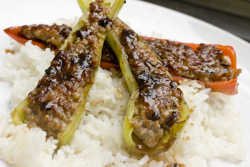 Stuffed Peppers with Black Bean Sauce 4
