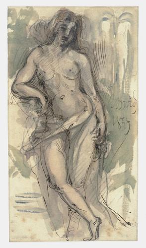 018- Estudio de una mujer de pie-Cyprian Kamil Norwid- 1821-1883