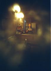 autoretrato (Michitaa) Tags: selfportrait film me mxico 35mm bathroom yo autoretrato pinhole oaxaca bao matchbox estenopeica rollo matchboxpinhole mariita michita