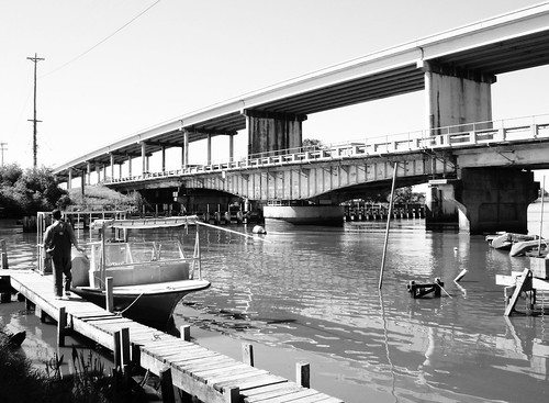 Bridge City (TX) United States  city images : ... boat at Cow Bayou Bridge, Hwy 73, Bridge City, Texas 1031091236BW