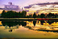 facinating evening-FP (NURAY YUZBASI) Tags: sunset cloud reflection tree pool turkey explore frontpage ankara bulut yansma altnpark canonrebelxti 1555mm anawesomeshot 100commentgroup onfrontpage