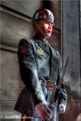 The Sentinel (juan-barahona) Tags: canon soldier army eos bokeh military taiwan militar taipei   hdr soldado ejercito taipeicity   hdrphotography imagenesenhdr