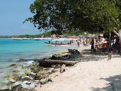 DSCN1245 (Mariano Piccetto) Tags: colours sky ocean water colombia playa blanca baru cartagena people