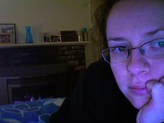 Enjoying my heater... (140/365) (colbsi) Tags: photobooth may heater 2009 twitter365 may365 colbsi