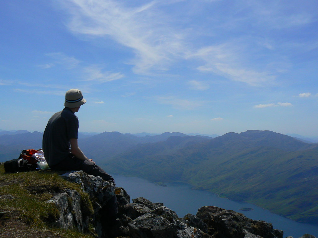 Lunch above Loch Hourn
