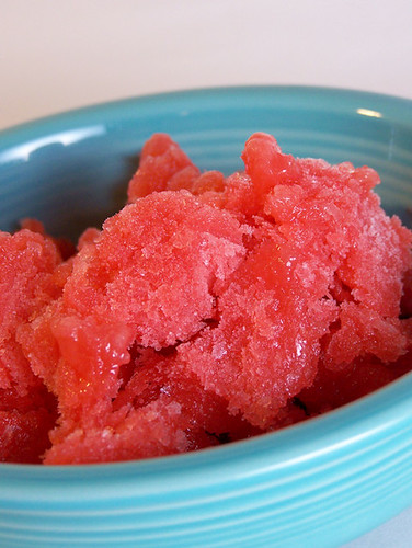 Pink Grapefruit and Strawberry Granita