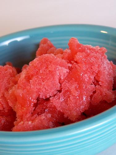 Pink Grapefruit and Strawberry Granita