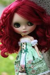 Delilah in Le Jardin de Maman's dress