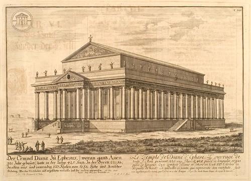 003- El templo de Diana en Efeso-Entwurf einer historischen Architektur 1721- © Universitätsbibliothek Heidelberg