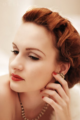 (Oeil Photography) Tags: beautiful vintage lights glamour shadows retro redhead hollywood glam redhair pinup filmnoir hurrell