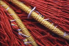Trawl net_orange_yellow_0114 (silverback photo) Tags: orange texture net yellow fishing netting knots webbing trawlgear
