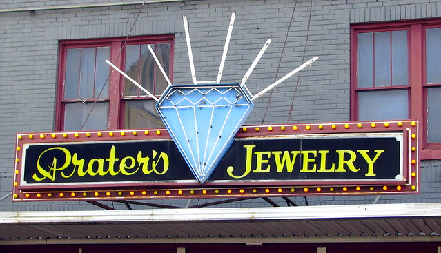 Prater's Jewelry sign