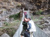 Views from a suspension bridge out…