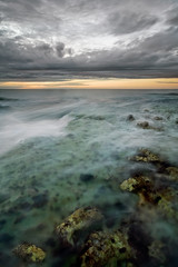 Peripheral Vision (jasontheaker) Tags: sunset birds reflections chalk waves emotion head earth yorkshire cliffs east environment puffins juxtaposed bempton flambrough jasontheaker