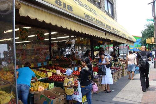 One of many West Indian markets in the Crown Heights neighborhood of Brooklyn