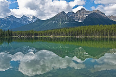 Lake in Banff National Park (pa_cosgrove) Tags: sky mountain lake canada mountains reflection nature water skyline clouds landscape photo nationalpark amazing group peaceful alberta banff mountaintop banffnationalpark the canadianrockies canoneosd60 sigma20mm parkcanadian