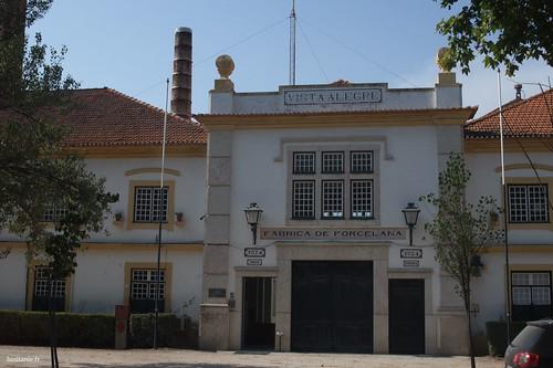 Entrada da antiga fábrica da Vista Alegre, hoje museu da porcelana