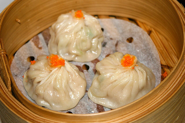 Juicy dumpling with foie gras