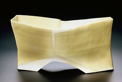 Architectural Vessel (Yellow Walls on White) (Maren Kloppmann) Tags: ceramics artist vessel clay sculptural functional porcelain dinnerware tableware accessceramics accessceramics:date=2005 accessceramics:technique=coilbuilt accessceramics:glazing=electricoxidation accessceramics:height=11 accessceramics:technique=slabbuilt accessceramics:glazing=terrasigillata accessceramics:material=porcelain accessceramics:temperature=cone8 accessceramics:width=23 accessceramics:depth=11 accessceramics:object_type=vessel accessceramics:technique=drapemold accessceramics:title=architecturalvesselyellowwallsonwhite accessceramics:artist=marenkloppmann