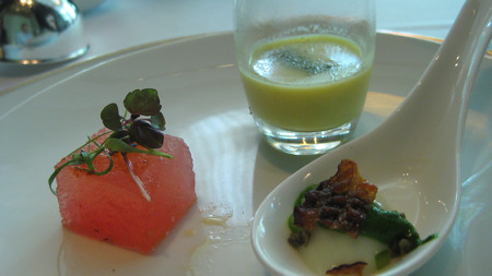Trio of Amuse at Jean Georges