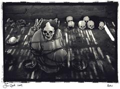 Open tomb,Nazca,Peru (Dan_wood) Tags: leica peru southamerica grave inca darkroom skulls skeleton death skull desert tomb mummy handprint deadbody nazcalines nazca incas burialground mummified leicam6 burialplace massgrave danwood darkroomprint opentomb ancientburialground boundandtied
